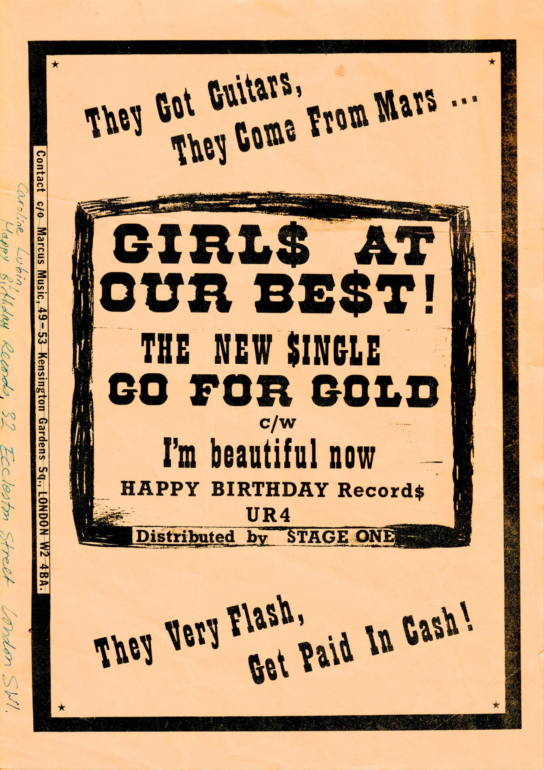 Go For Gold single flyer